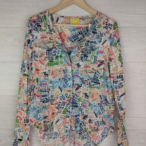 Maeve Anthropologie London Map Top